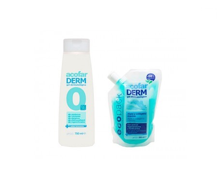 Acofarderm gel dermatológico 0% 750ml + ecopack250ml