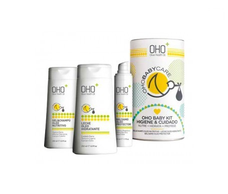 OHO Baby Kit gel-champú 200ml+ leche hidratante 200ml+ bálsamo 50ml
