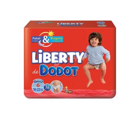 Dodot Pañales Liberty T6 16-22 Kg 32 Unidades