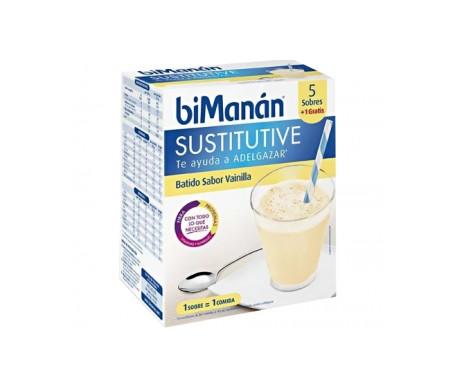 biManán® Sustitutive batido vainilla 55g 6 sobres
