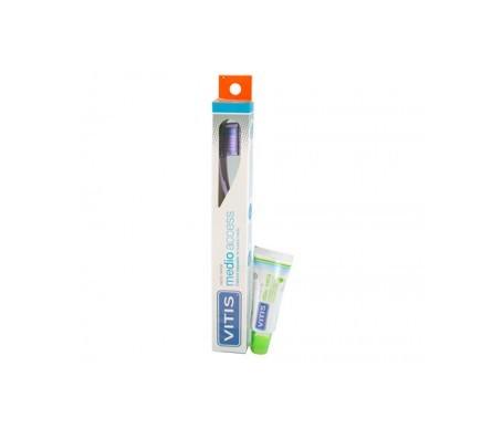 Vitis® Access cepillo dental medio 1ud + pasta 15ml