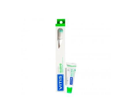 Vitis® cepillo dental suave 1ud + pasta 15ml
