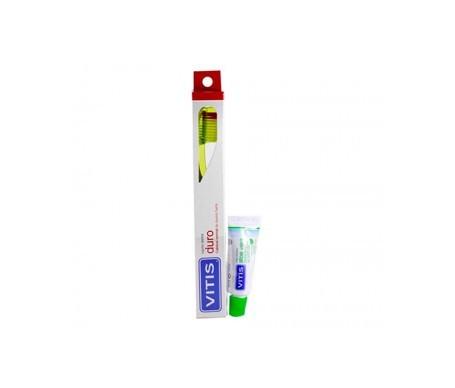 Vitis® cepillo dental duro 1ud + pasta 15ml