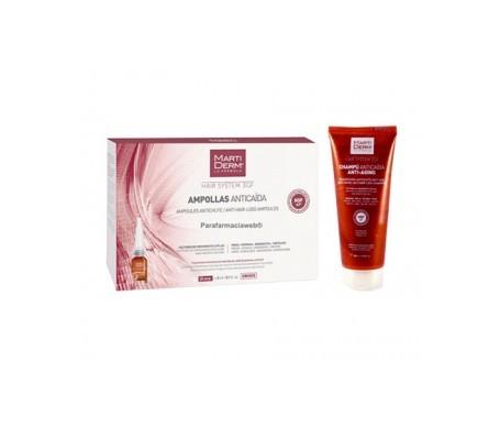 Martiderm perdita di capelli fiala 3GF 28amp + anti-aging perdita di capelli shampoo 200ml