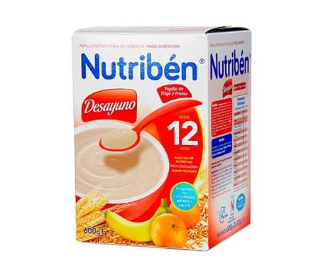 Nutribén®  Desayuno Papilla De Trigo Con Fruta 12m+ 600g