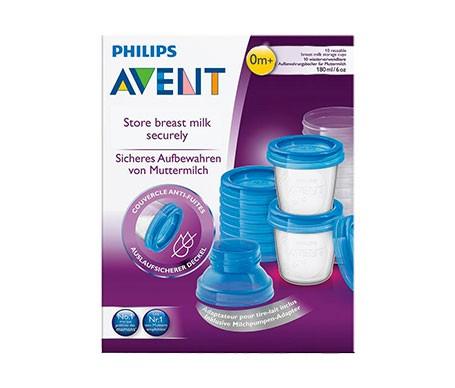 Avent Via recipientes de leche materna 10 vasos