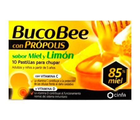 BucoBee con própolis/miel/limón 10 pastillas