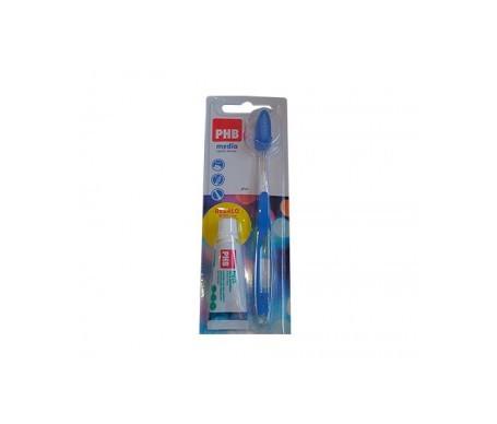 PHB cepillo dental plus medio+ pasta dentífrica 15ml REGALO