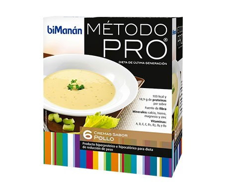 biManán® Dieta Hiperprotéica crema de pollo 30g 6uds