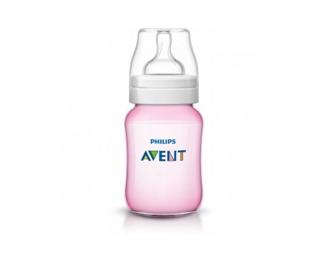 Avent biberón personalizado color rosa 260ml