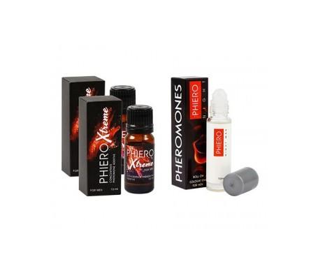 Phiero Xtreme concentrado de feromonas 10mlx2uds + perfume con feromonas 10ml