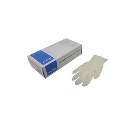 Aaron guantes látex T-P 100uds