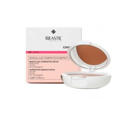 Rilastil Coverlab Compact base maquillaje tono sand 10g