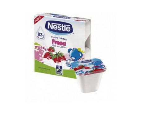 Nestlé postre lácteo fresa 4uds