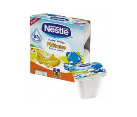 Nestlé postre lácteo plátano 4uds