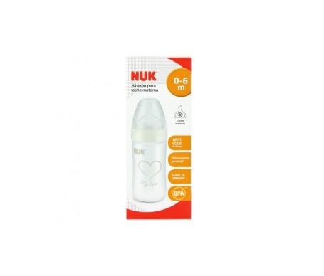 Nuk biberon silicona leche materna 0-6 meses