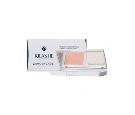 Rilastil Camouflage corrective powder SPF30+ makeup base nº40 sand 10g shade