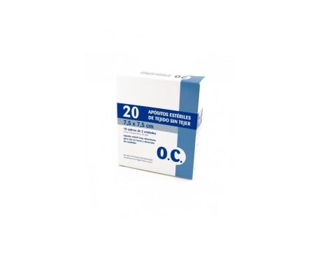 O.C compresa estéril tejido sin tejer 7,5cmx7,5cm 20uds