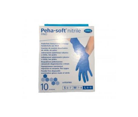 Peha-Soft guantes desechables de nitrilo talla S 10uds