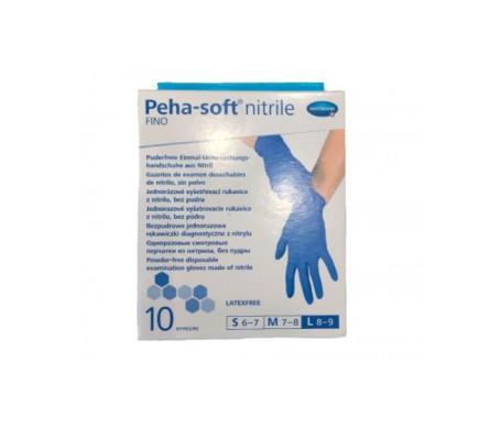 Peha-Soft guantes desechables de nitrilo talla M 10uds