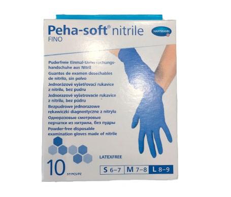 Peha-Soft guantes desechables de nitrilo talla L 10uds