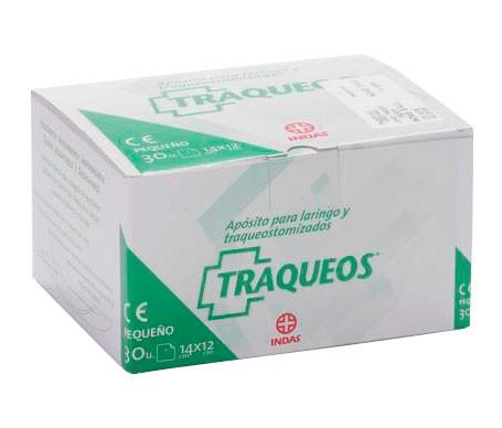 Traqueo's apósitos laringo/traqueotomizado 14x12cm 30uds