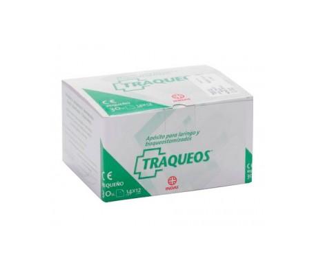 Traqueo's apósitos laringo/traqueotomizado 20x12cm 30uds