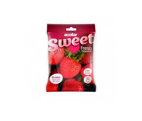 Acofarsweet caramelos azúcar sabor fresa 60g