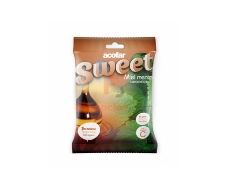 Acofarsweet caramelos azúcar sabor miel/menta 60g