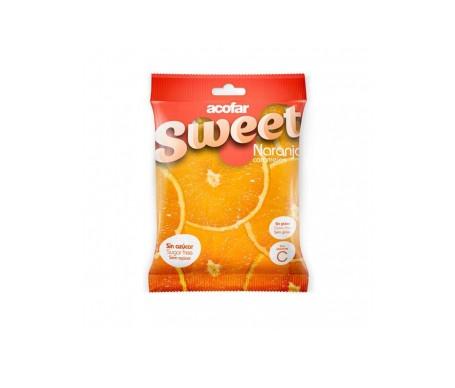 Acofarsweet caramelos azúcar sabor naranja 60g