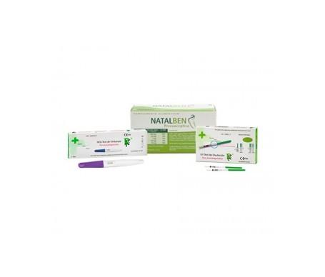 Natalben preconceptivo 30cáps + Rueda Farma LH test de ovulación 1ud + test embarazo 2uds