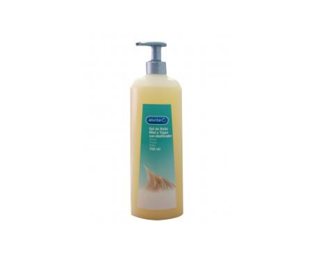 Alvita gel de baño miel y yogur con dosificador 750ml