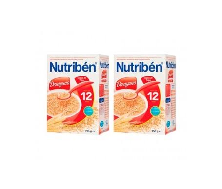 Nutribén® desayuno copos trigo 750g+750g
