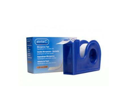 Alvita esparadrapo microporoso con dispensador 5mx1,5cm 1ud