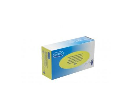 Alvita guantes de examen látex con polvo T-S 100uds