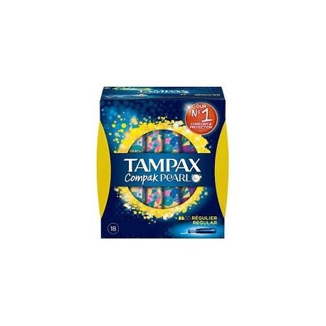 Tampax Compak Pearl Regular algodón 18uds