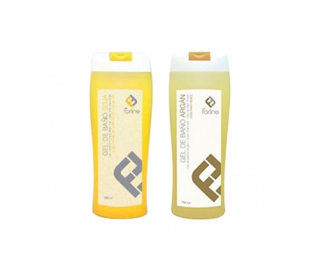 Farline gel de baño soja 750ml + Farline gel de baño de argán 750ml