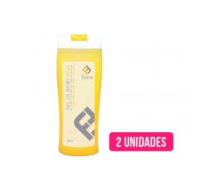 Farline gel de baño soja 750ml+750ml