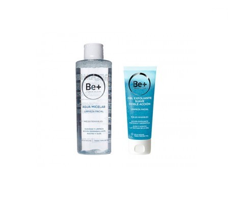 Be+ gel exfoliante doble accion 75ml + Be+ agua micelar 200ml