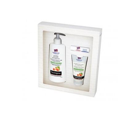Neutrogena™ body lotion 250ml + raspberry hand cream 75ml + lip balm 4