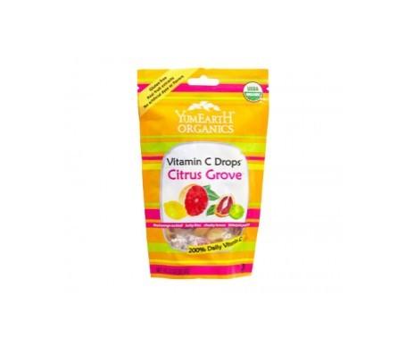 Yum Earth caramelos orgánicos de frutas cítricas 30uds