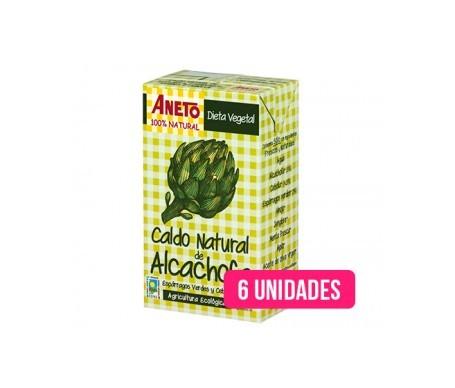 Aneto Natural caldo natural alcachofa ecológica 1l pack de 6uds