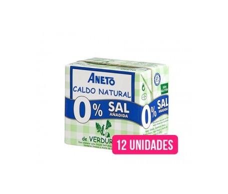 Aneto Natural caldo natural verduras 0% sal añadida 0,5l pack de 12uds