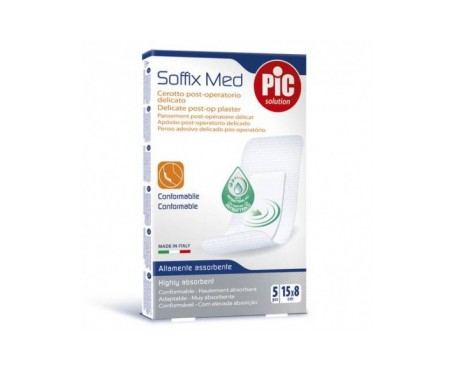 Pic Soffix Med Antibacteriano Post Op  Aposito Adhesivo 15 X 8 C