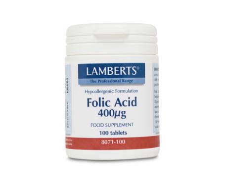 Lamberts ácido fólico 400g 100 tabletas
