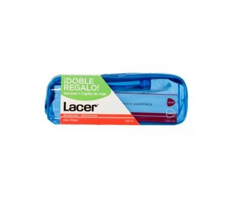 Lacer neceser + cepillo viaje + pasta 125ml
