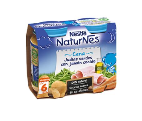 NaturNes cena judías verdes con jamón cocido 200g+200g