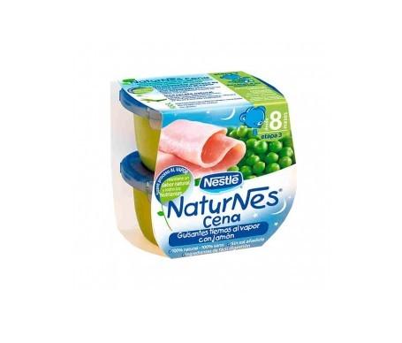 Naturnes Guisantes Tiernos Al Vapor Con Jamon  200 G 2 U