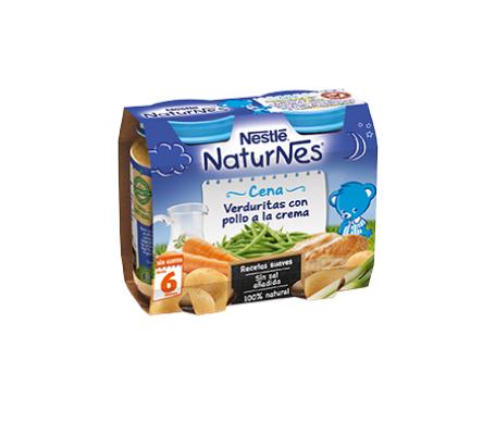 NaturNes crema verduritas con pollo 200g+200g