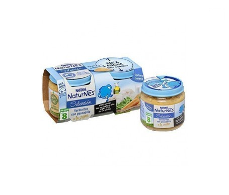 NaturNes crema verduritas y pescadilla 200g+200g